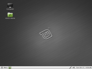 Linux Mint 10 (Julia), screen shot