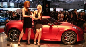 Alfa Romeo 4C Concept, on stage at the 2011 Geneva Motor Show