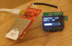 Electric Imp driving an OLED display